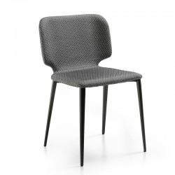 Sedia imbottita con gambe in acciaio - Wrap