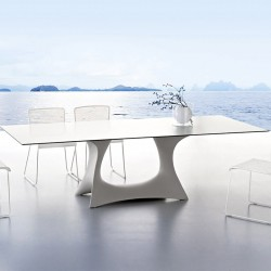 Outdoor dining table with...