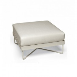 Outdoor ottoman in steel...
