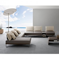 Outdoor sofa with aluminium...