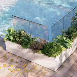 Modular planter predisposed for glass - Cristal