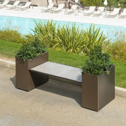 Modular planter with bench...