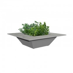 Steel planter with...