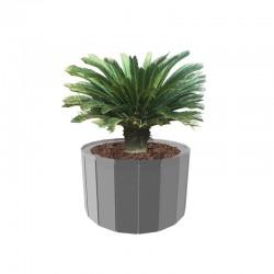 Spline round planter in steel