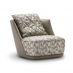 Grace armchair in fabric or...