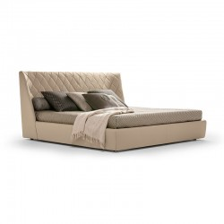 Grace bed in fabric or leather