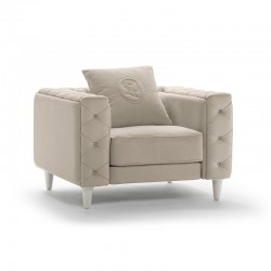 Armchair in fabric or...
