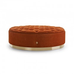 Tracy ottoman in fabric or leather