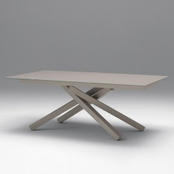 Extendable table with glass...
