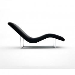 Chaise lounge tessuto/pelle...