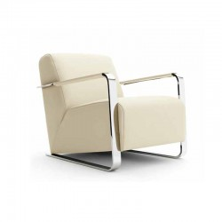 Elle armchair in fabric or...