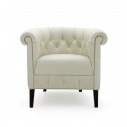 Chester small leather armchair