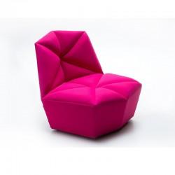 Gossip armchair in fabric...