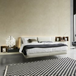 Bed system with padded headboard - Ecletto