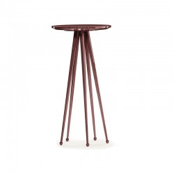 Jagger round coffee table in lacquered metal