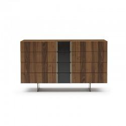 Cassettiera in legno e...