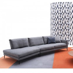 Modular sofa in fabric or...
