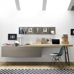 Unit storage Sangiacomo with desk top - Ecletto