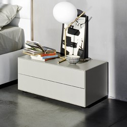 Bedside table Sangiacomo with 2 drawers - Ecletto