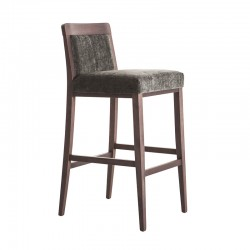 Wooden upholstered stool -...