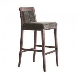 Wooden upholstered stool - Boheme