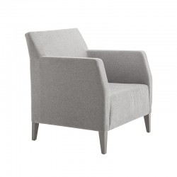 Miss lounge armchair in fabric or synthetic leather
