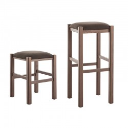 Upholstered stool - Rustica
