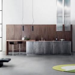 Modern kitchen with island...