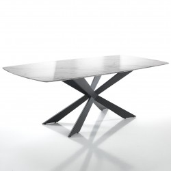 Dining table with marble...