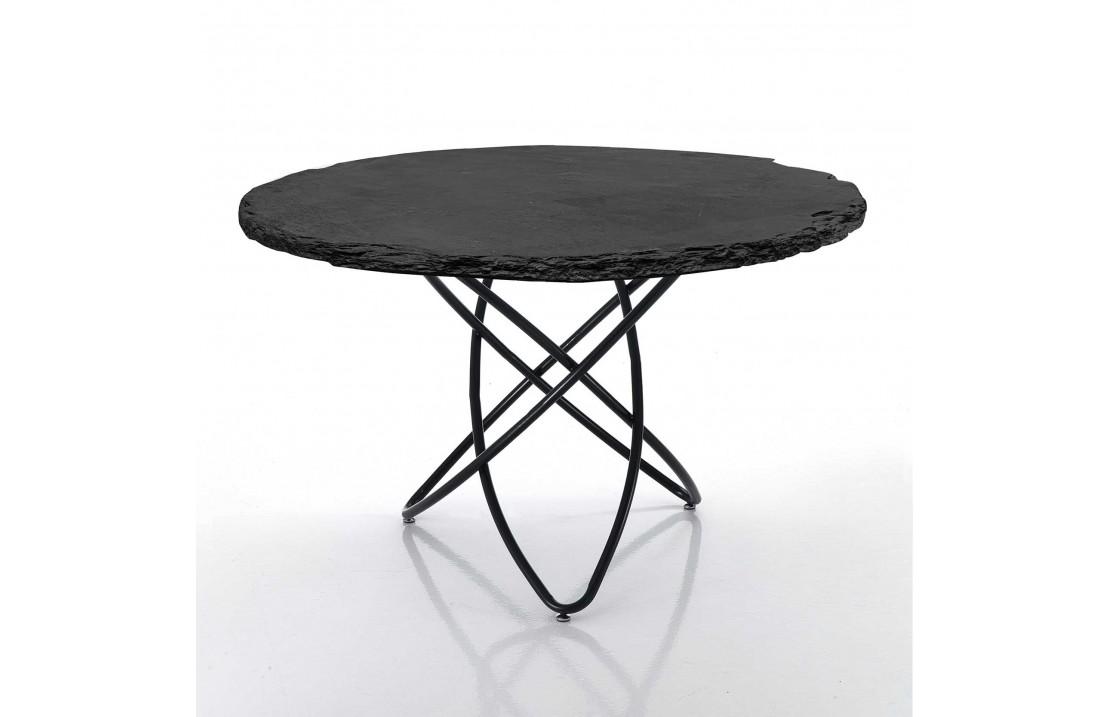 Tavolo tondo con top in ardesia - Tavoli da pranzo - ISA ...