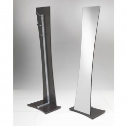 Floor mirror with coat rack