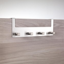 Appendiabiti per porta in acciaio inox