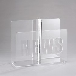 Transparent magazine rack