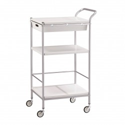 Serving cart in metal