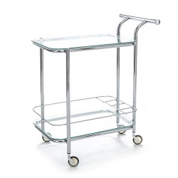 Serving cart in metal with...
