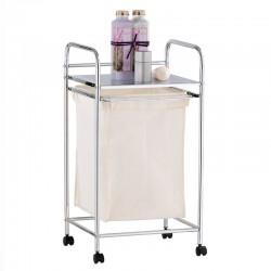 Laundry basket with shelf...