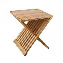 Folding stool / pouf in bamboo