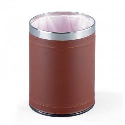 Cestino rifiuti/gettacarte acciaio/ecopelle