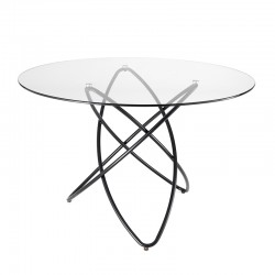 Round dining table with...