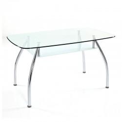 Table/desk in metal w/glass...