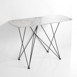 Consolle w/marble effect top