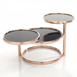 Coffee table w/3 rotating tops
