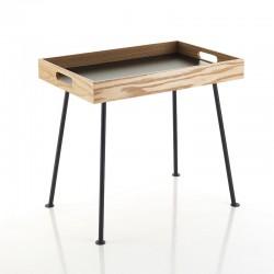 Tavolino da caffè in metallo con vassoio