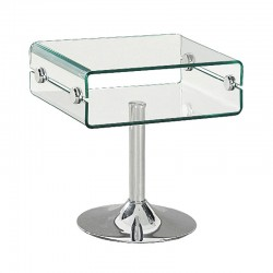 Glass side table/night stand