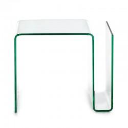 Tavolino in vetro con portariviste