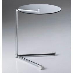 Tavolino servitore in vetro con ruote