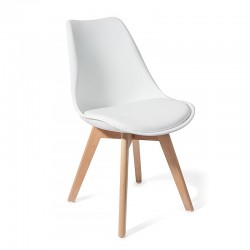 Chair in eco-leather and...