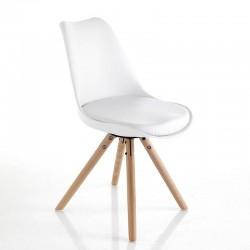 Sedia in similpelle e legno...