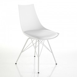 Padded chair in eco-leather