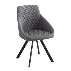Padded chair upholstered in fabric